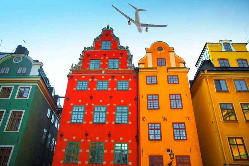 Stortorget place in Gamla stan, Stockholm Sweden.